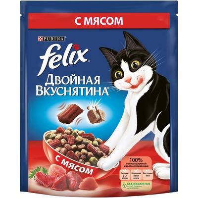 Felix Двойная Вкуснятина корм для взрослых кошек всех пород, мясо 1,5 кг