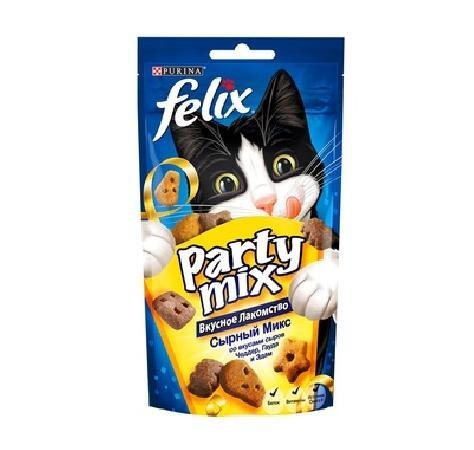 Felix лакомство для кошек всех пород и возрастов, сырный микс (чеддер, гауда, эдам) 20 гр