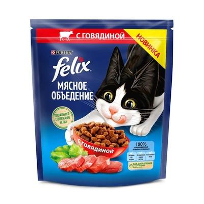 Felix Сухой корм для кошек Мясное объедениес говядиной (12455364), 0,600 кг, 52747