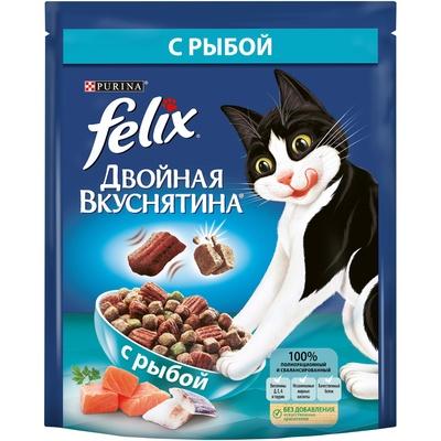 Felix Двойная Вкуснятина корм для взрослых кошек всех пород, рыба 750 гр