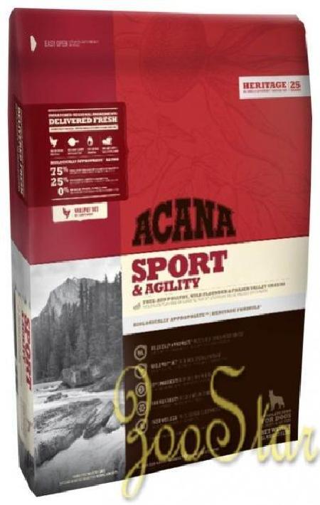 Acana Heritage корм для для активных взрослых собак всех пород, беззерновой, цыпленок 17 кг