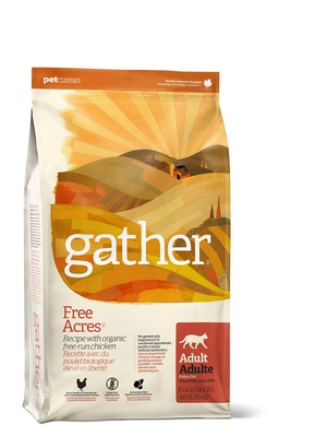 GATHER Органический корм для кошек с курицей (GATHER Free Acres Chicken CF) 4301308, 3,630 кг