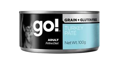 Go! Консервы ВИА Консервы беззерновые с индейкой для кошек (GO! Grain Free Turkey Pate CF) 126-5023, 0,100 кг, 28014