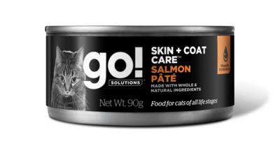 GO! влажный корм для кошек с лососем 90 гр