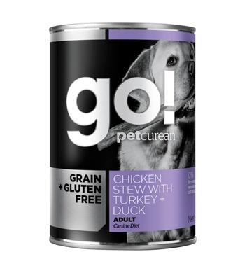 Go! Консервы ВИА Консервы беззерновые с тушеной курицей, индейкой и мясом утки для собак (GO! Grain Free Chicken Stew with Turkey + Duck DF) 126-5006, 0,400 кг, 48513