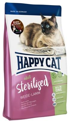 Happy Cat корм для взрослых и пожилых стерилизованных кошек всех пород, контроль веса, ягненок 4 кг