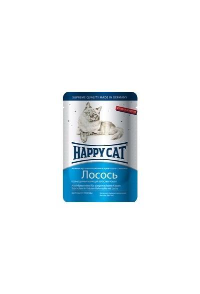 Happy Cat влажный корм для взрослых кошек всех пород, лосось 100 гр