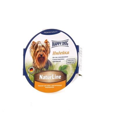 Happy Dog влажный корм для взрослых и пожилых собак всех пород, индейка 85 гр
