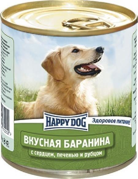 Happy Dog влажный корм для взрослых собак всех пород, с сердцем, печенью и рубцом 750 гр