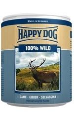 Happy Dog влажный корм для взрослых и пожилых собак всех пород, дичь 400 гр