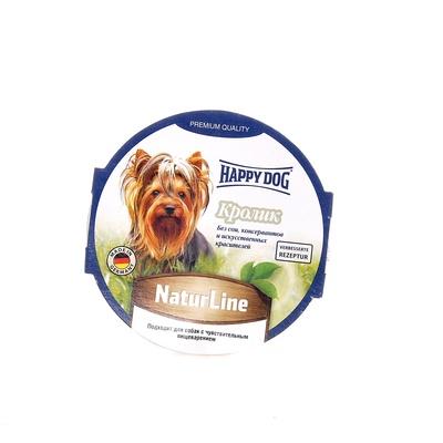Happy Dog влажный корм для взрослых и пожилых собак всех пород, кролик 85 гр