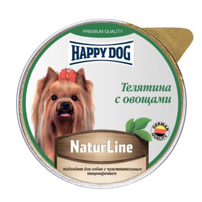 Happy Dog влажный корм для взрослых собак малых пород, телятина и овощи 100 гр