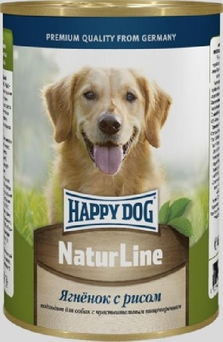 Happy Dog влажный корм для взрослых собак всех пород, с ягненком и рисом 400 гр