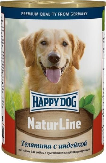 Happy Dog влажный корм для взрослых собак всех пород, с индейкой 400 гр