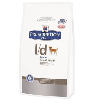 Hills Prescription Diet Сухой корм для собак L/D лечение печени (Hepatic) 8669N, 12,000 кг