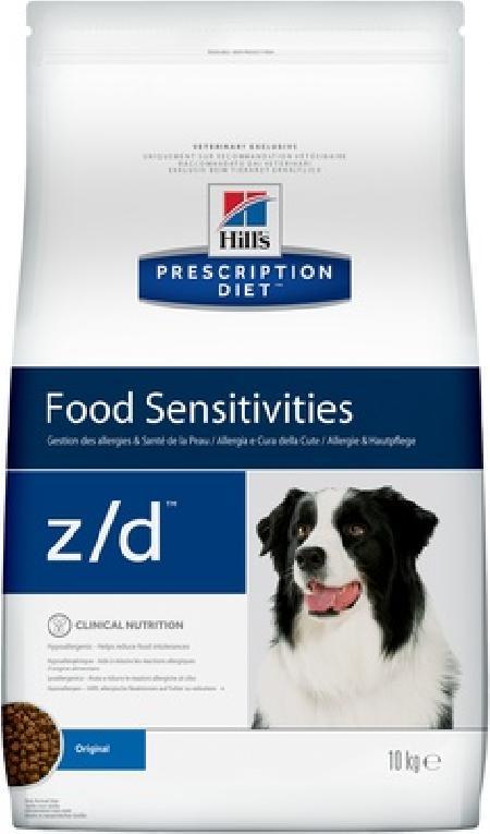 Hills Diet z/d корм для взрослых и пожилых собак всех пород при пищевой аллергии 10 кг