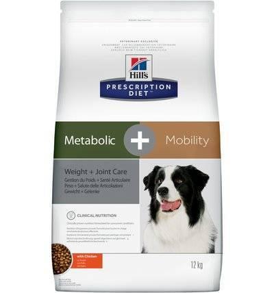 Hills Prescription Diet Сухой корм для взрослых собак Metabolic+Mobility для коррекции веса и лечение суставов (10039N), 12,000 кг