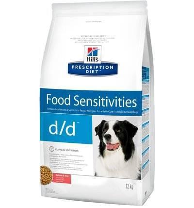Hills Prescription Diet Сухой корм для собак D/D лечение пищевых аллергий с лососем и рисом (Salmon&Rice) 9178N, 12,000 кг