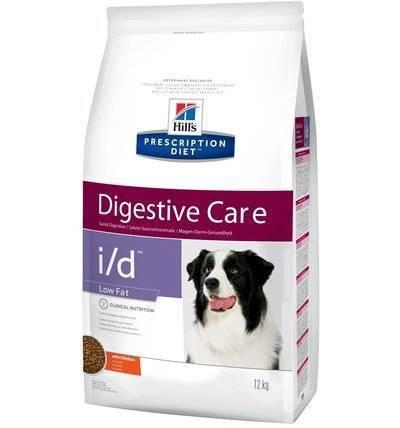 Hills Prescription Diet Сухой корм для собак I/D Low fat лечение ЖКТ, низкокалорийный(Low Fat Digestive Care)1809N, 12,000 кг