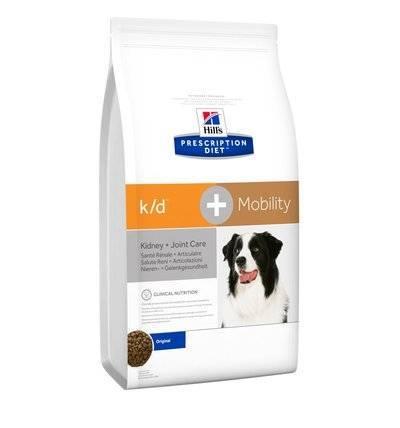 Hills Prescription Diet Сухой корм для собак K/D + Mobility лечение почек + поддержка суставов 10746N, 12,000 кг