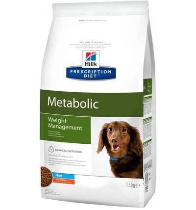 Hills Prescription Diet Cухой корм для собак малых пород Metabolic Mini для улучшения метаболизма (коррекции веса) 3355/3353U, 1,500 кг