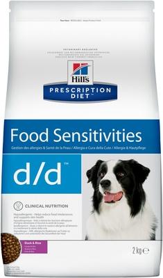 Hills Prescription Diet Сухой корм для собак D/D лечение пищевых аллергий и непереносимости с уткой и рисом (Duck&Rice) 9117U, 2,000 кг