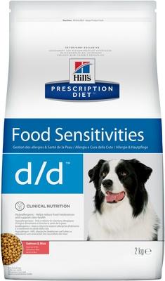 Hills Prescription Diet Сухой корм для собак D/D лечение пищевых аллергий и непереносимости с лососем и рисом (Salmon&Rice) 9114U, 2,000 кг