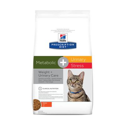 Hills Prescription Diet Сухой корм для кошек Metabolic + Urinary +  Stress для коррекции веса и лечения мочекаменной болезни (10040U/10544U), 1,500 кг