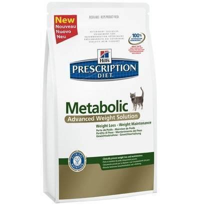 Hills Diet Metabolic корм для кошек всех пород, поддержание оптимального веса, курица 1,5 кг