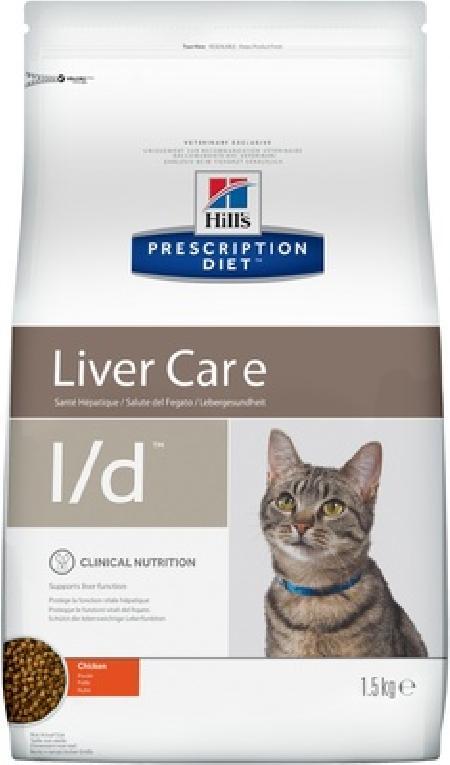 Hills Diet l/d корм для взрослых и пожилых кошек всех пород, здоровье печени, курица 1,5 кг