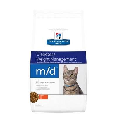 Hills Diet m/d корм для взрослых и пожилых кошек всех пород, контроль веса, курица 1,5 кг