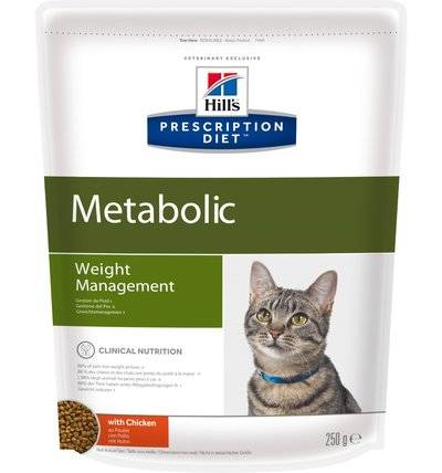 Hills Diet Metabolic корм для кошек всех пород, поддержание оптимального веса, курица 250 гр