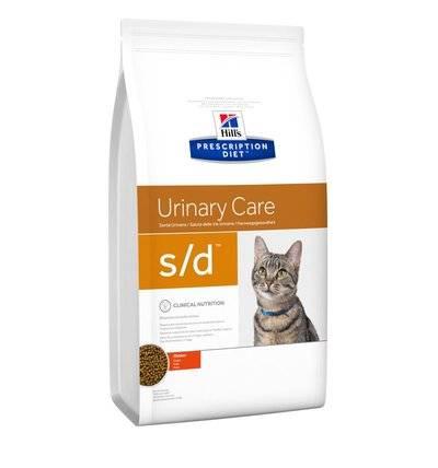 Hills Diet s/d корм для взрослых кошек всех пород, лечение МКБ 5 кг