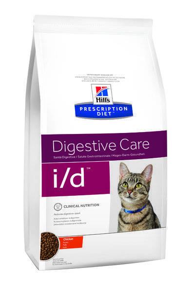 Hills Diet i/d корм для взрослых и пожилых кошек всех пород, поддержание здоровья ЖКТ, курица 5 кг