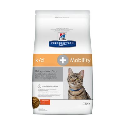 Hills Prescription Diet Сухой корм для кошек K/D + Mobility лечение почек + поддержка суставов 10748U, 2,000 кг