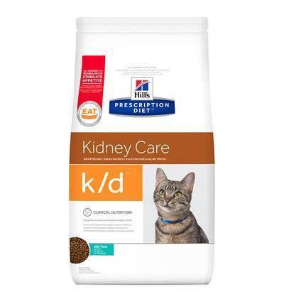 Hills Prescription Diet Сухой корм для кошек K/D лечение почек, сердца и нижнего отдел мочевыводящих путей с тунцом 11142U, 1,500 кг