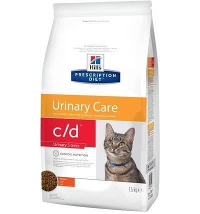 Hills Prescription Diet Сухой корм для кошек C/d  профилактика МКБ при стрессе (Urinary Stress) , 1,500 кг