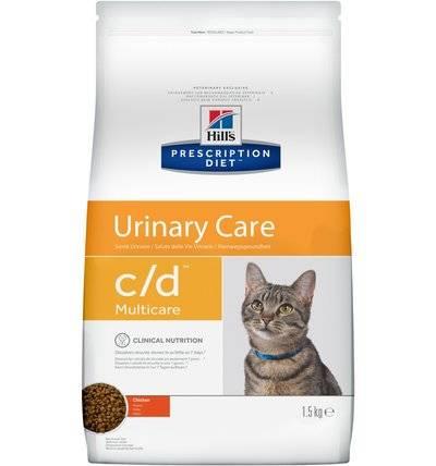 Hills Prescription Diet Сухой корм для кошек C/D профилактика мочекаменной болезни (МКБ) с курицей 9185M, 1,500 кг