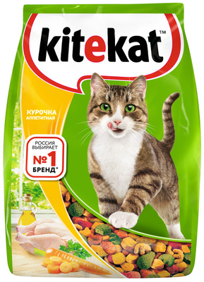 Kitekat корм для взрослых кошек, с курочкой аппетитной 1,9 кг