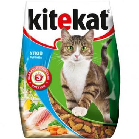 Kitekat корм для взрослых кошек, улов рыбака 350 гр