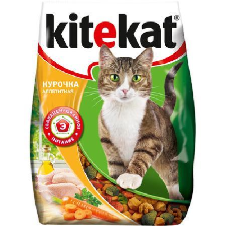 Kitekat корм для взрослых кошек, с курочкой аппетитной 800 гр