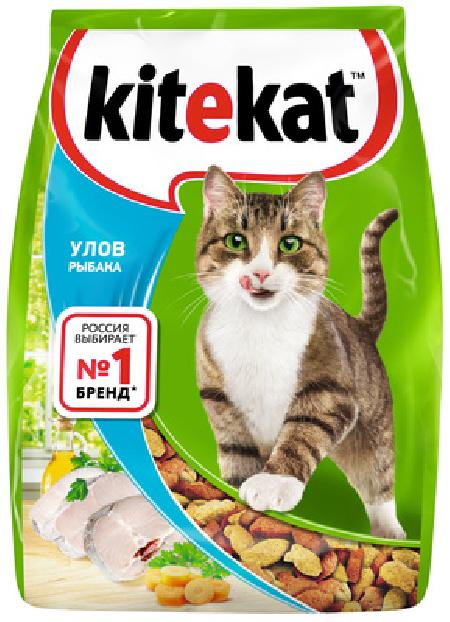 Kitekat корм для взрослых кошек, улов рыбака 1,9 кг