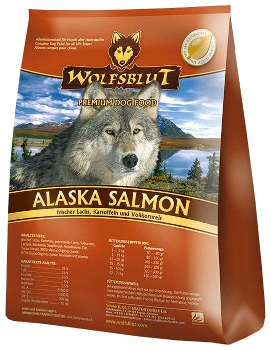 Wolfsblut Корм Alaska Salmon (Аляскинский лосось для взрослых собак) 15 кг, WBAS15