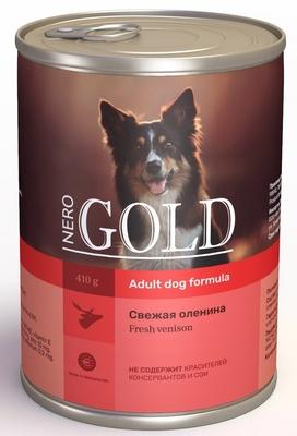 Nero Gold консервы ВИА Консервы для собак Свежая оленина (Venison), 0,810 кг