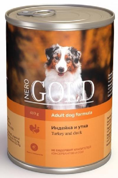 Nero Gold консервы ВИА Консервы для собак Индейка и утка (Turkey andDuck), 1,250 кг