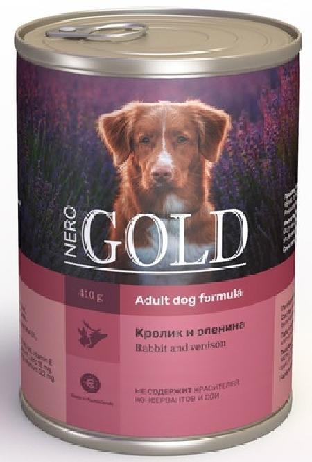 Nero Gold консервы ВИА Консервы для собак Кролик и оленина (Rabbit andVenison), 1,25 кг, 10322
