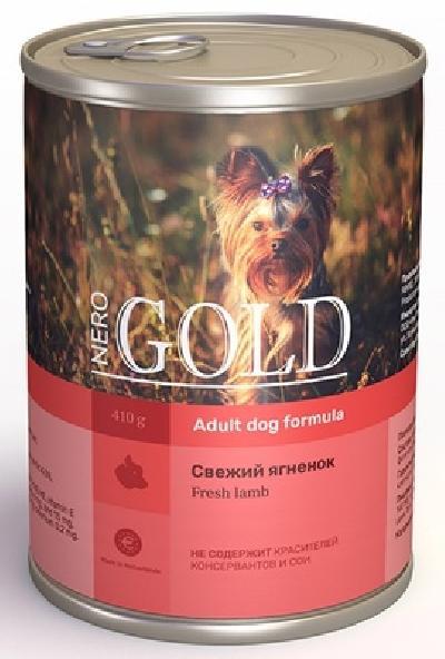 Nero Gold консервы ВИА Консервы для собак Свежий ягненок (Lamb), 1,250 кг