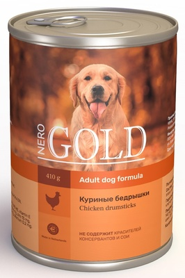 Nero Gold консервы Консервы для собак Куриные бедрышки (Chicken Drumsticks), 0,410 кг