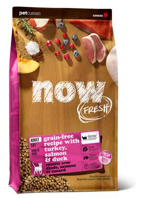 NOW Fresh корм для взрослых кошек всех пород, беззерновой, индейка, утка и овощи 3,63 кг