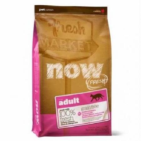 NOW FRESH Беззерновой для Взрослых Кошек с Индейкой, Уткой и овощами (Fresh Grain Free Adult Cat Recipe 31/18), 3,630 кг, 20043